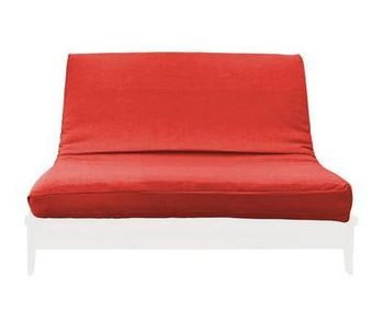 MEDLEY TWIN RED LINEN TEXTURE FUTON COVER