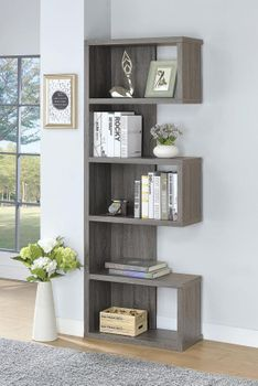 5-Tier Bookcase Weathered Grey