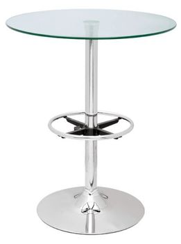 Round Glass Top Pub Table