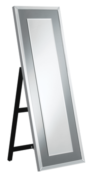 Rectangular Cheval Mirror With LED Light Silver 962898