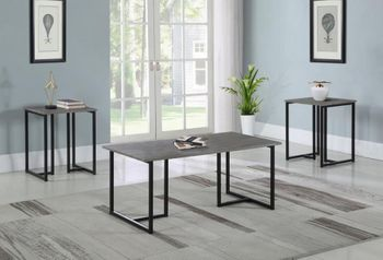 Floor model 3-Piece Occasional Set Weathered Grey And Black 753390