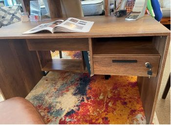 Floor Model Desk with drawer and a key