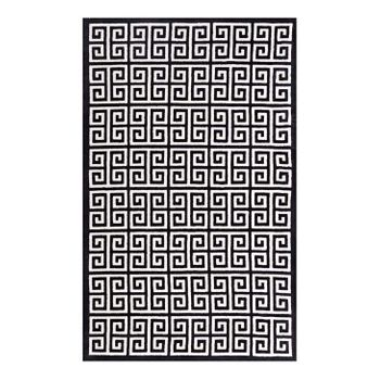 FREYDIS GREEK KEY 5X8 AREA RUG IN BLACK AND WHITE