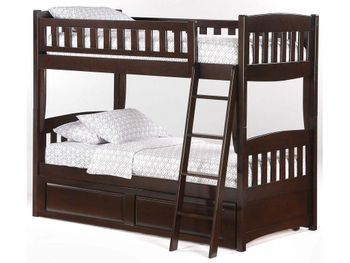 Cinnamon Twin/Twin Bunk with set of Storage- 10 year warranty