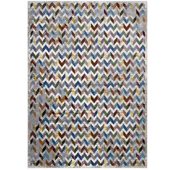GEMMA CHEVRON MOSAIC 5X8 AREA RUG IN MULTICOLORED