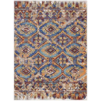CENTEHUA DISTRESSED SOUTHWESTERN AZTEC 8X10 AREA RUG IN MULTICOLORED