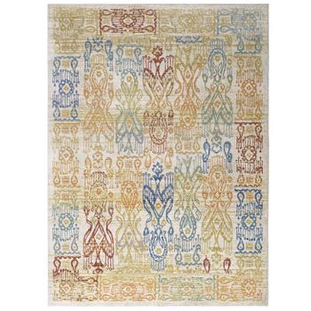 SOLIMAR DISTRESSED SOUTHWESTERN AZTEC 8X10 AREA RUG IN MULTICOLORED