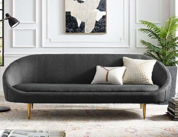 Sublime Vertical Curve Back Fabric Sofa