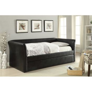 Misthill PU Day Bed with trundle # 39145