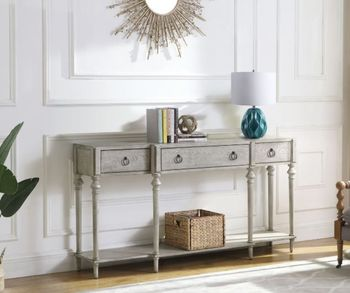 3-Drawer Accent Cabinet Antique Grey