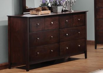 Floor Model Tia 8-Drawer Rectangular Dresser Cappuccino