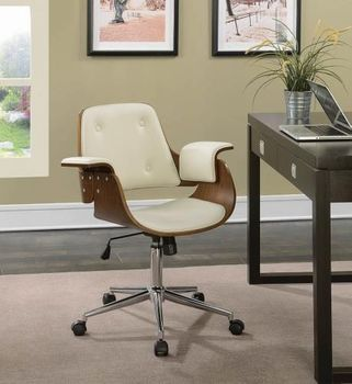 Office Chairs Mid-Century Modern Office Chair with Upholstered Seat