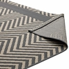 OPTICA CHEVRON WITH END BORDERS 8X10 INDOOR AND OUTDOOR AREA RUG