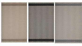 OPTICA CHEVRON WITH END BORDERS INDOOR AND OUTDOOR AREA RUG
