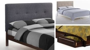 Paprika Platform bed with 2 Short storage drawers- P Series / 10 years warranty