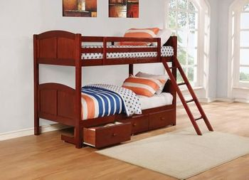Parker Twin Over Full Panel Bunk Bed with Under Bed Storage Unit 460212