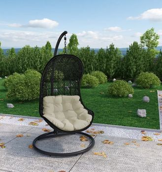 PARLAY 806 SWING OUTDOOR PATIO FABRIC LOUNGE CHAIR