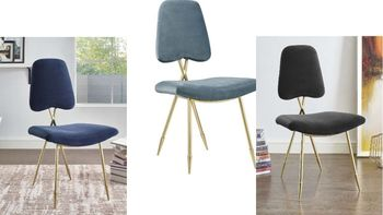Ponder Performance Velvet Side Chair