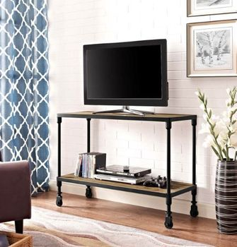 "Raise 42"" Wood TV Stand in Brown 2640"