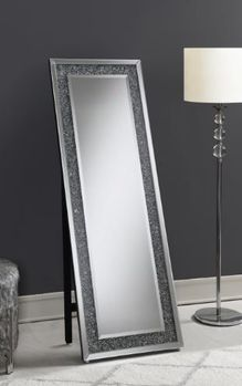 Rectangular Standing 961427 Mirror With LED Lighting Silver