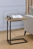 Rectangular Top 931126 Accent Table With USB Port Weathered Pine
