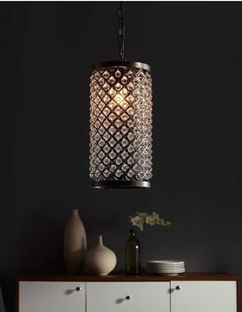 Reflect Glass and Metal Pendant Chandelier 2887