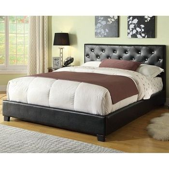 Regina Upholstered Full Bed platform with Button Tufting