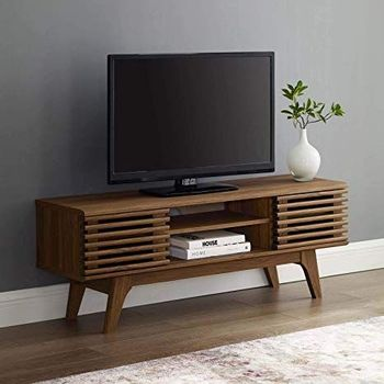 "Render 46"" Media Console TV Stand in Walnut 3837"