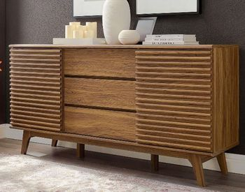 """Render 63"""" Sideboard Buffet Table or TV Stand in Walnut 3344"""