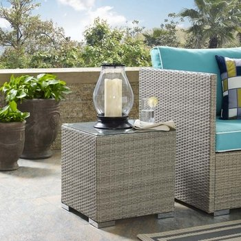 REPOSE OUTDOOR PATIO 2692 SIDE TABLE IN LIGHT GRAY