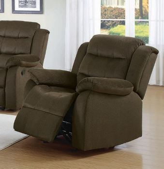 Rodman Upholstered Glider Recliner Chocolate