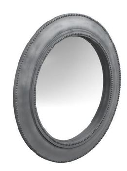 Beveled Round Mirror Grey # 962876