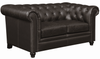Roy Traditional Button-Tufted Love Seat with Rolled Back and Arms 504552