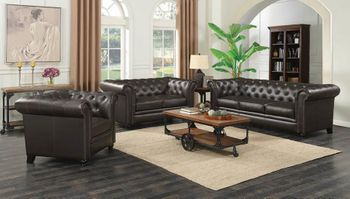 Roy Traditional Button-Tufted Sofa 504551