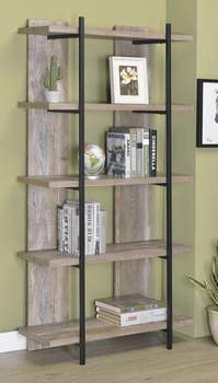 Samson 5-Tier Bookcase Weathered Oak