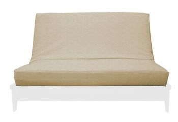 SANDALWOOD TWIN SUEDE TEXTURE FUTON COVER