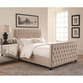Saratoga Upholstered Twin Bed with Button Tufting by Scott Living