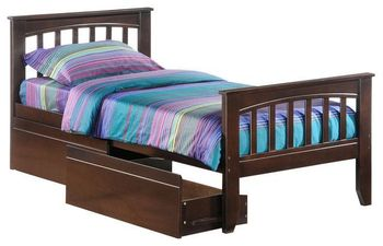 Sasparilla Twin Size Bed with Storage - 5-year warranty