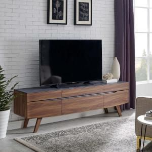 "Scope 71"" TV Stand in Walnut Gray 3439"