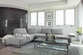 Arden 2-Piece Adjustable Back Sectional Taupe # 508888