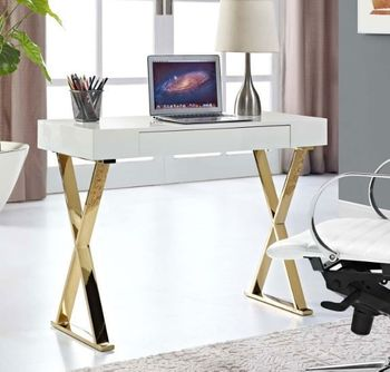 Sector Console 3032 Table in White Gold