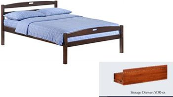 Sesame Full Size Bed with storage - 5-year warranty