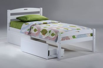 Sesame Twin Size Bed with storage - 5-year warranty