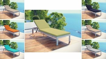 SHORE OUTDOOR PATIO ALUMINUM 2660 CHAISE WITH CUSHIONS