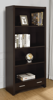 Skylar 5-Shelf Bookcase With Storage Drawer Cappuccino 800905