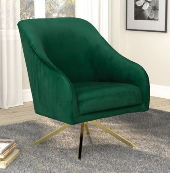 Sloped Arm Accent Chair