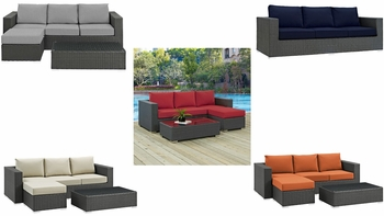 SOJOURN 3 PIECE OUTDOOR PATIO SUNBRELLA® SECTIONAL SET 1889