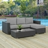 SOJOURN 3 PIECE OUTDOOR PATIO SUNBRELLA� SECTIONAL SET IN CANVA