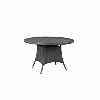 "SOJOURN 47"" ROUND OUTDOOR PATIO DINING TABLE IN CHOCOLATE"