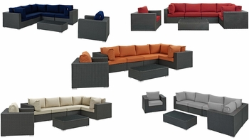 SOJOURN 7 PIECE OUTDOOR PATIO SUNBRELLA® SECTIONAL SET